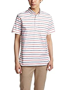Short Sleeve Pullover Buttowndown Shirt 38-01-0006-139: White