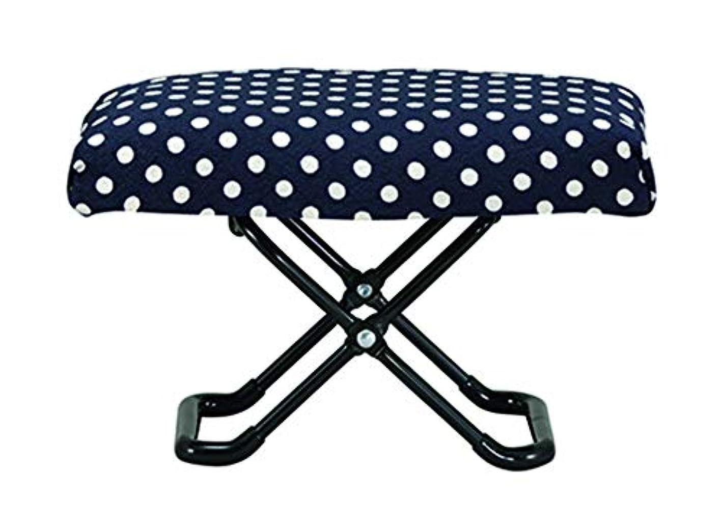 羊選択入力カクセー 仏前用椅子 水玉 折畳時:約25×16×6cm ゆったりサイズ 794492