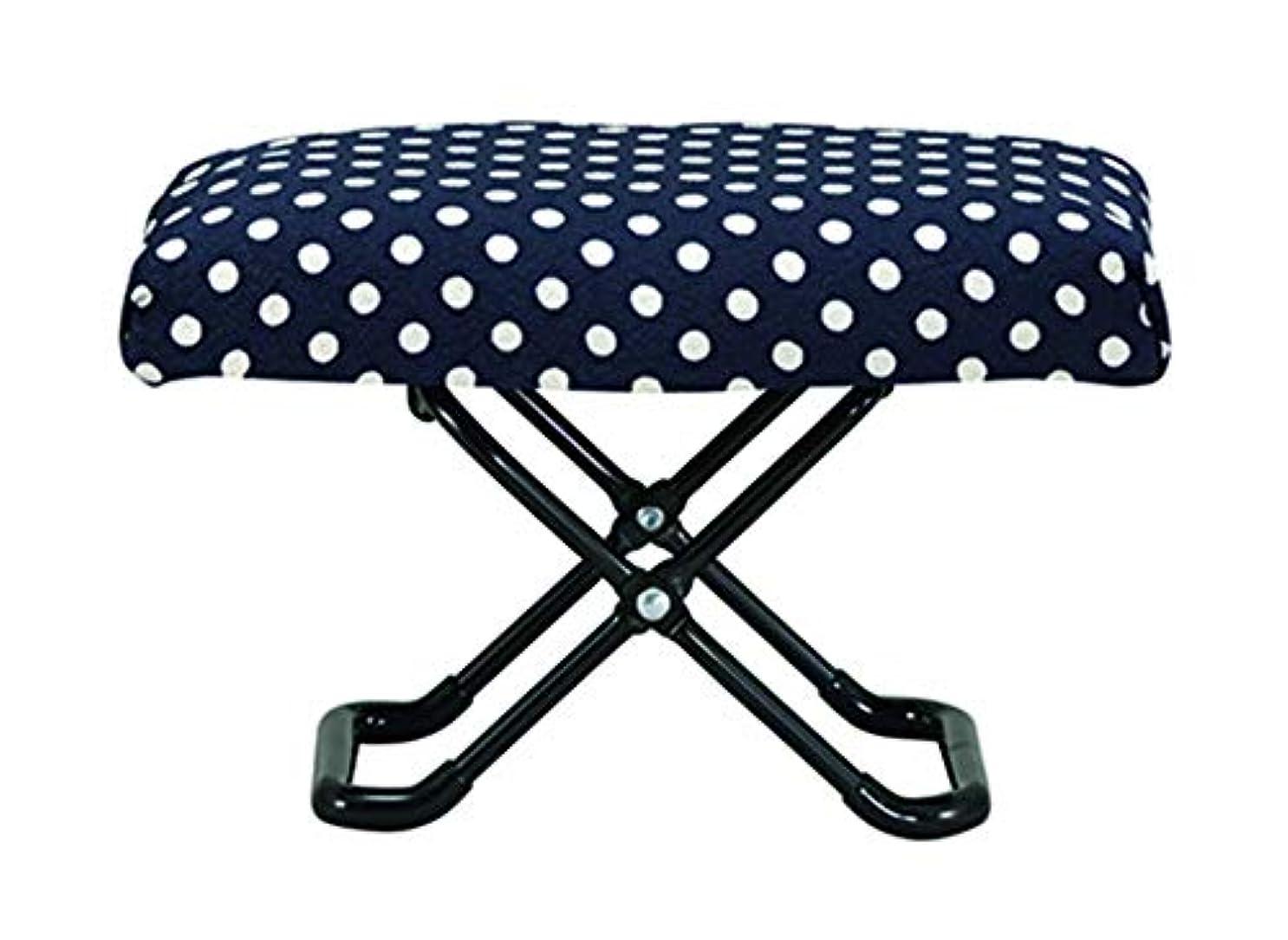 放課後野菜またはカクセー 仏前用椅子 水玉 折畳時:約25×16×6cm ゆったりサイズ 794492
