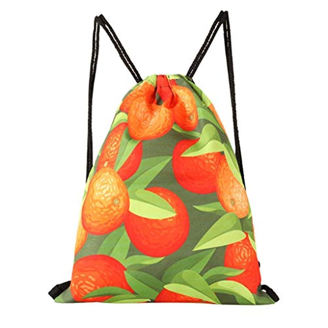スラックテラスピクニックレディース女の子カジュアルかわいいプリント巾着バックパック旅行キャンプ軽量大容量ストレージバックパックスクールランチペンシルケースバックパック