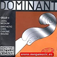CUERDA VIOLONCELLO - Thomastik (Dominant 143) (Metal/Cromo) 2ェ Medium Cello 1/4 (Re) D (Una Unidad)