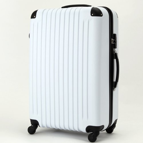 (トラベルデパート) 超軽量スーツケース TSAロック付 (Mサイズ(54L), ホワイト)