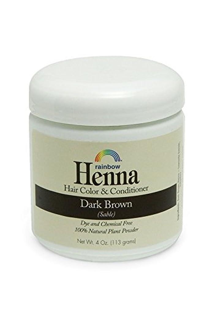 良心漫画振動させるRainbow Research, Henna, 100% Botanical Hair Color and Conditioner, Persian Dark Brown (Sable), 4 oz (113 g)