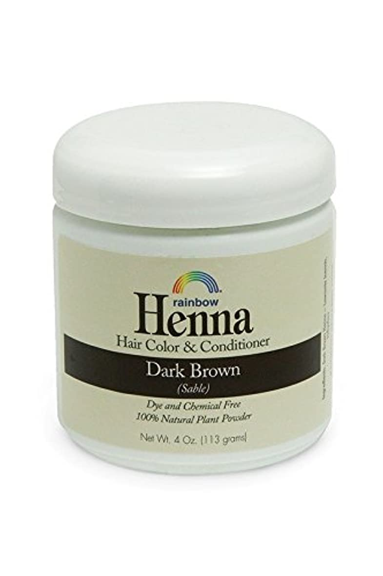 スライスオーガニックレルムRainbow Research, Henna, 100% Botanical Hair Color and Conditioner, Persian Dark Brown (Sable), 4 oz (113 g)