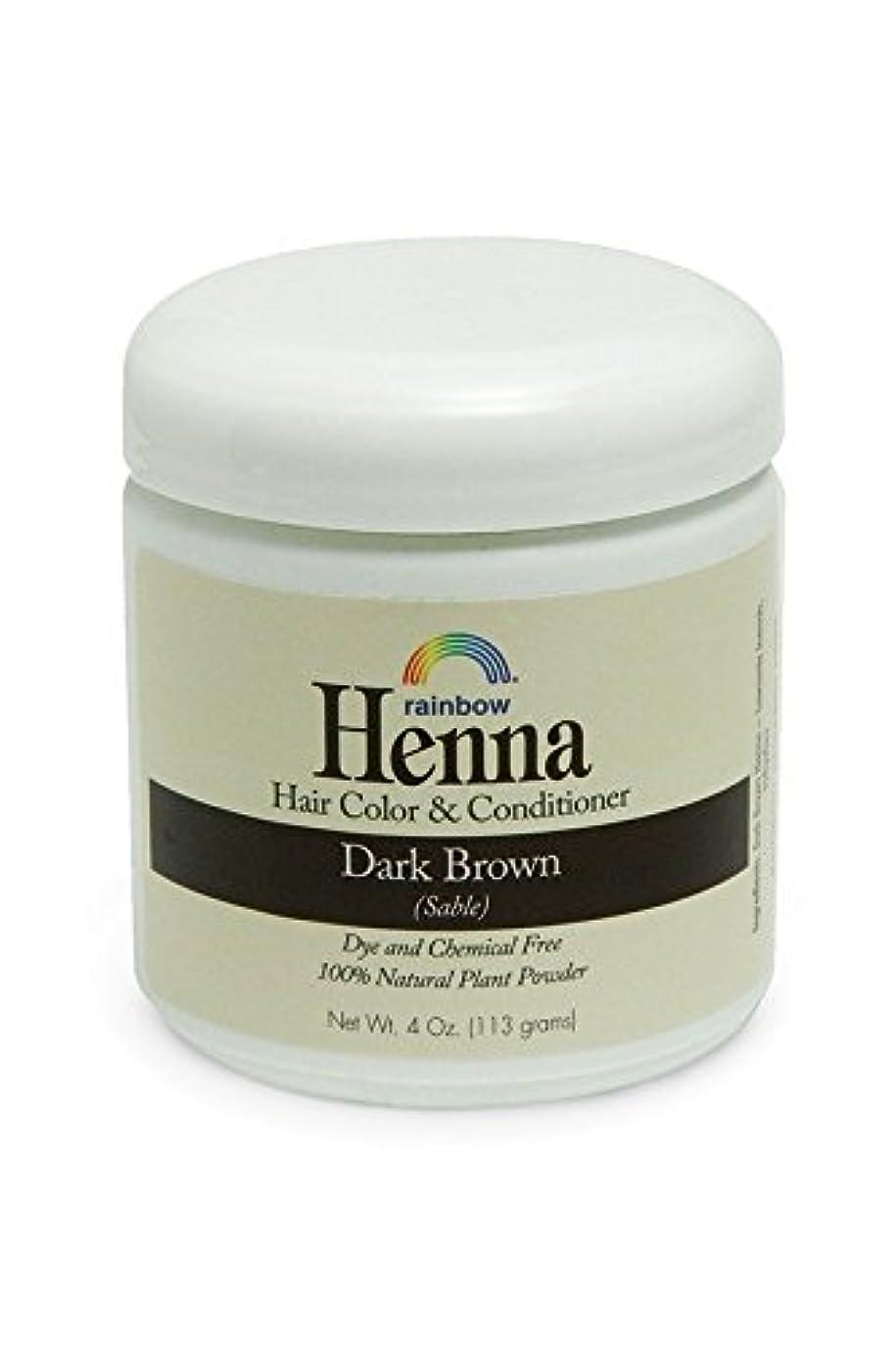 抽選去る秘密のRainbow Research, Henna, 100% Botanical Hair Color and Conditioner, Persian Dark Brown (Sable), 4 oz (113 g)