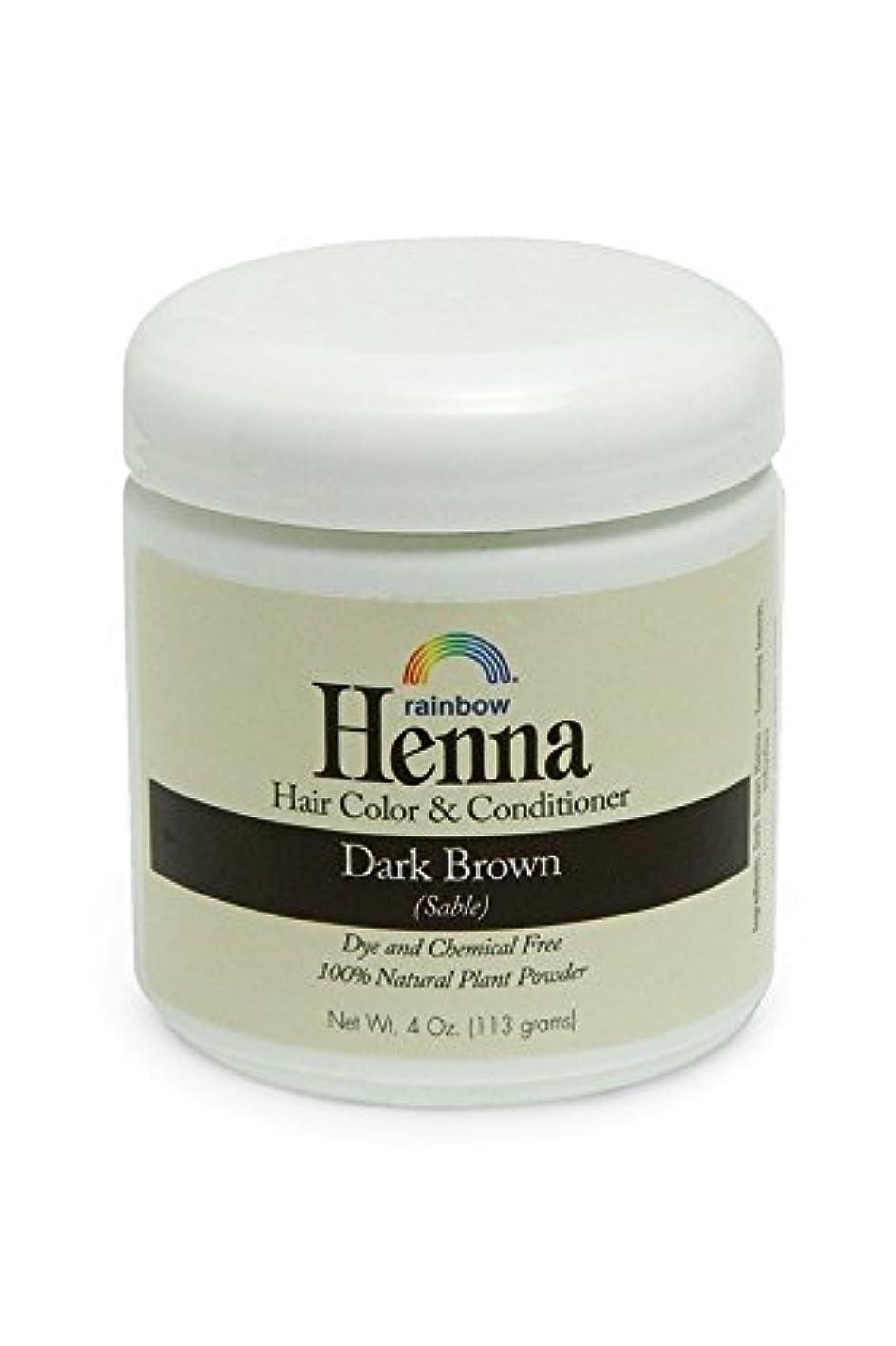 頼るトランスミッション着服Rainbow Research, Henna, 100% Botanical Hair Color and Conditioner, Persian Dark Brown (Sable), 4 oz (113 g)