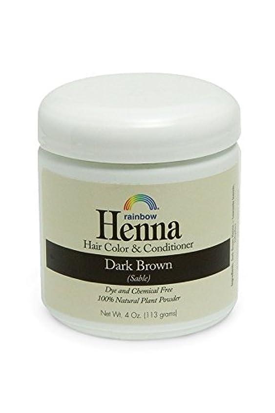 狂信者不誠実契約したRainbow Research, Henna, 100% Botanical Hair Color and Conditioner, Persian Dark Brown (Sable), 4 oz (113 g)