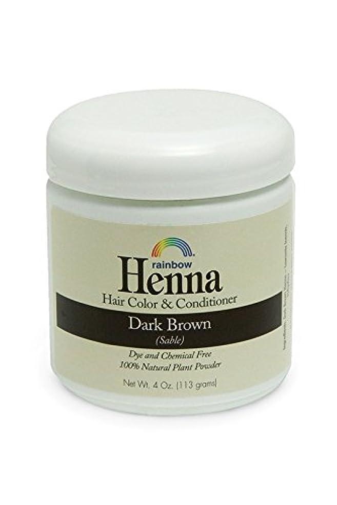キッチンパラダイス細分化するRainbow Research, Henna, 100% Botanical Hair Color and Conditioner, Persian Dark Brown (Sable), 4 oz (113 g)
