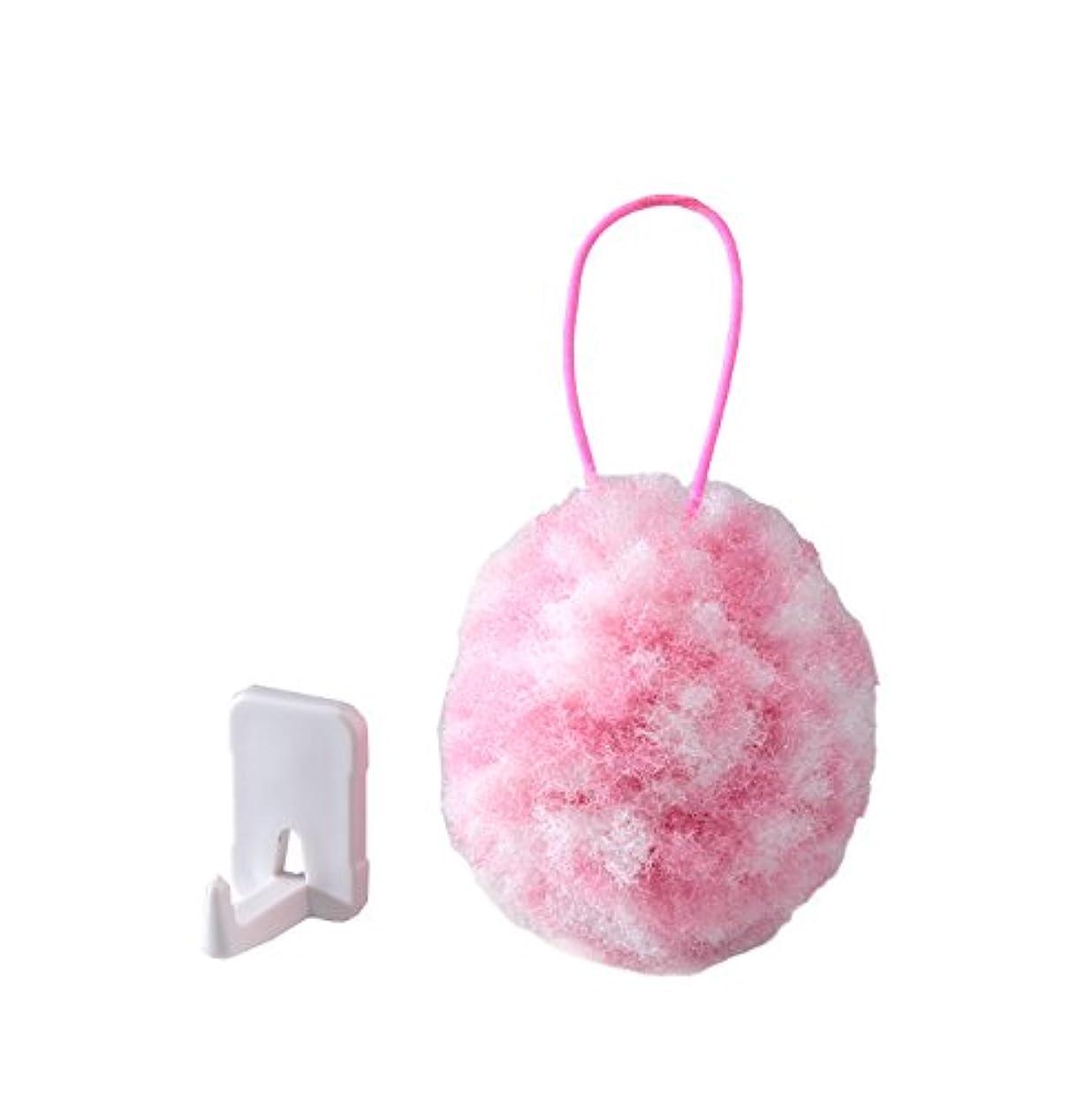 膨らませる効果的スピンサンコー 手洗いブラシ びっくりフレッシュ ピカピカ手洗いボール ピンク BF-35