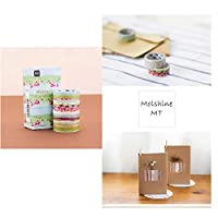 Molshine Decorative Japanese和紙マスキング粘着テープ–性質とFirstloveシリーズ–コレクション NZ002