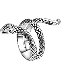 Snake Rings for Women Heavy Metals Punk Rock Ring Vintage