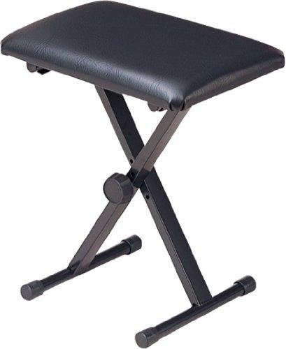 キクタニ キーボードベンチ ピアノイス X型 KB-66 ブラック