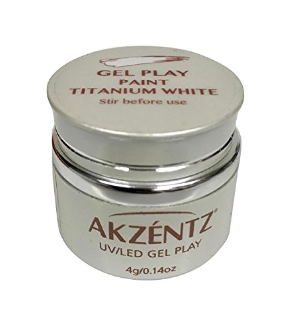 有名人ダウンタウン怠感AKZENTZ(アクセンツ) UV/LED ジェルプレイ ペイントチタニウムホワイト 4g