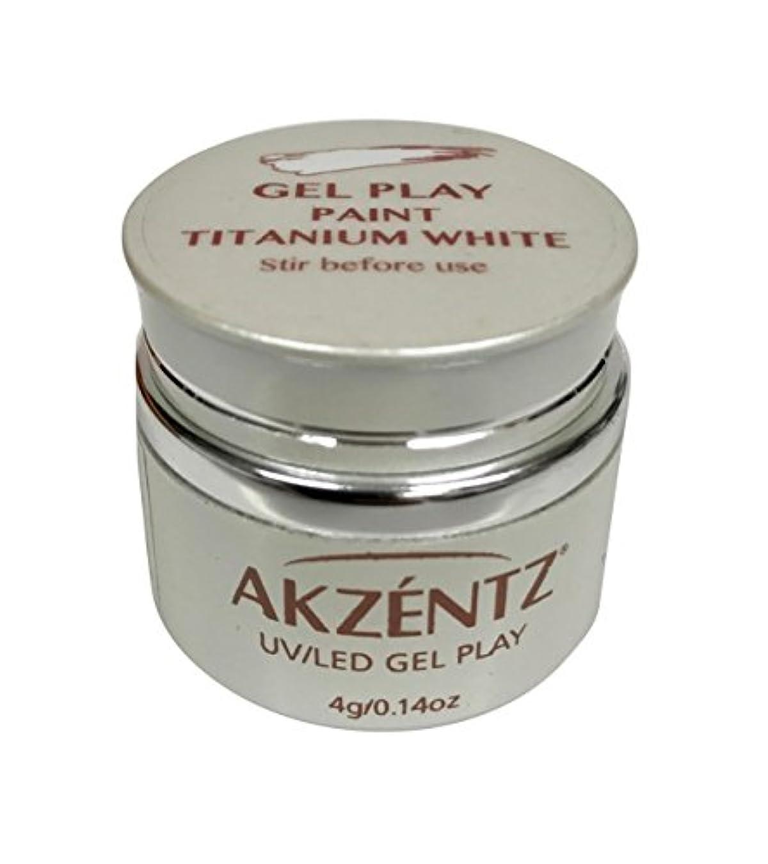 聖歌ポンペイ週末AKZENTZ(アクセンツ) UV/LED ジェルプレイ ペイントチタニウムホワイト 4g