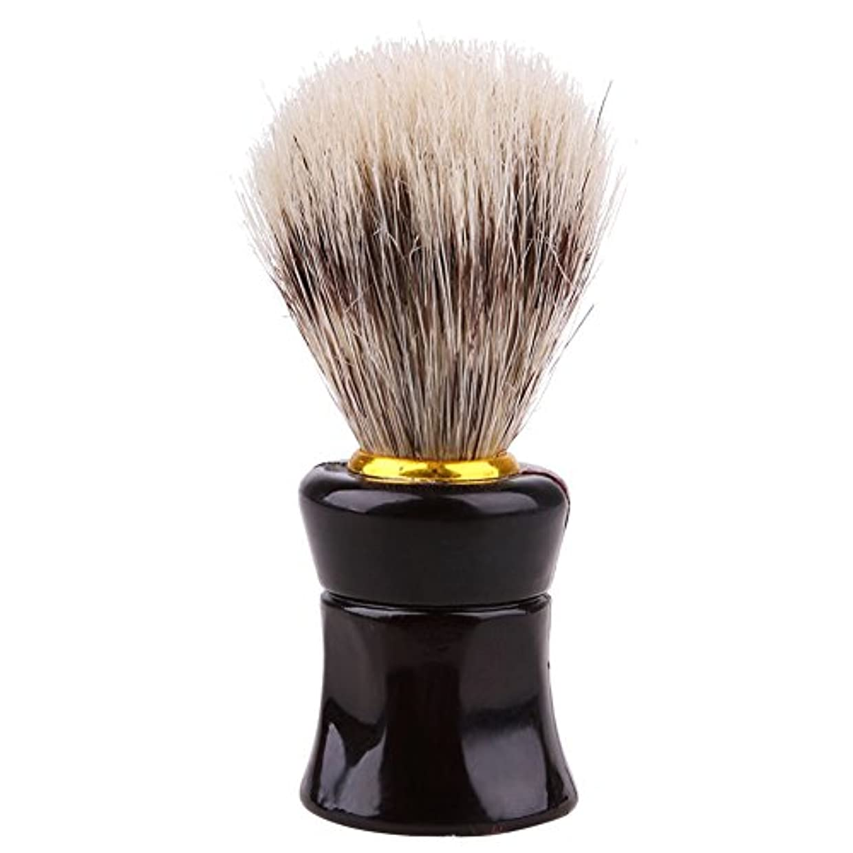 男性、かわいい、ひげブラシ、シェーバーブラシ、便利、実用的、美容ツール、シェービングツール、黒