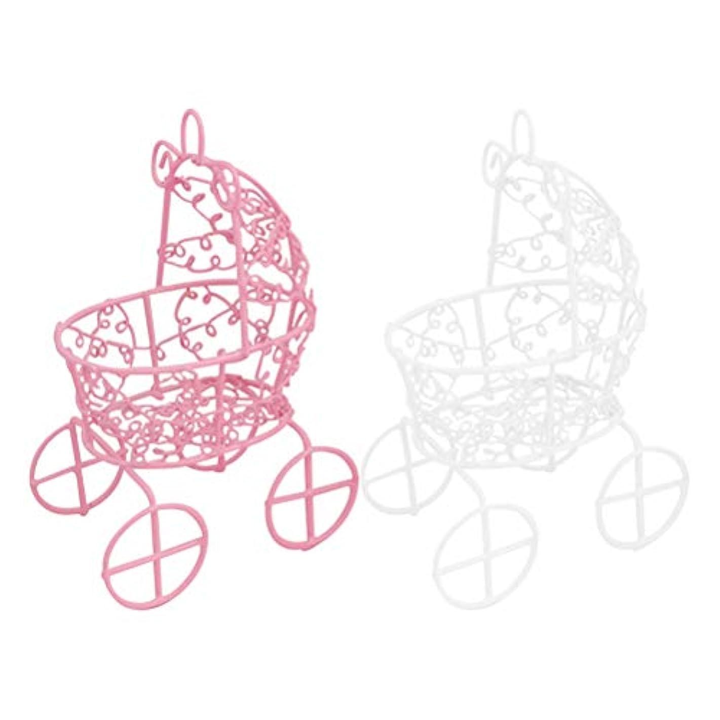 情熱援助修理工Frcolor メイクスポンジスタンド パフホルダー パフ乾燥用スタンド 化粧用パフ收納 カビ防止 小型軽量 2色セット(ピンク+ホワイト)