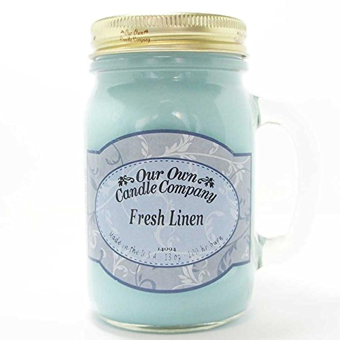 ポスター高速道路険しいアロマキャンドル メイソンジャー フレッシュリネン ビッグ Our Own Candle Company Fresh Linen big