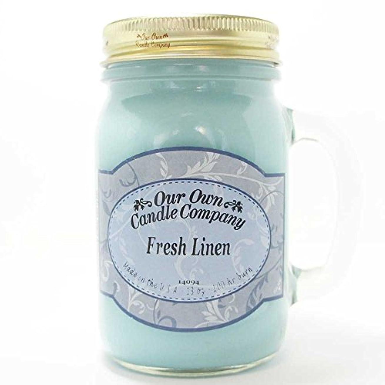 加入副ホースアロマキャンドル メイソンジャー フレッシュリネン ビッグ Our Own Candle Company Fresh Linen big