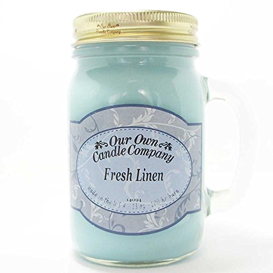 豆欠如肉屋アロマキャンドル メイソンジャー フレッシュリネン ビッグ Our Own Candle Company Fresh Linen big