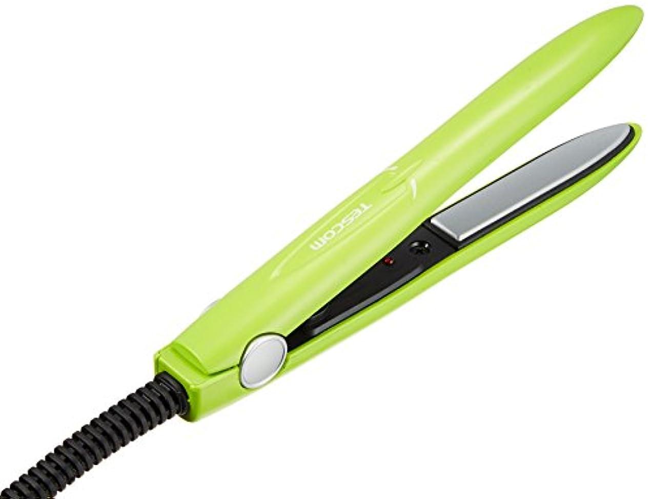 ビスケット論争の的モンキーTESCOM Styleup mini ヘアーアイロン THS10-G グリーン