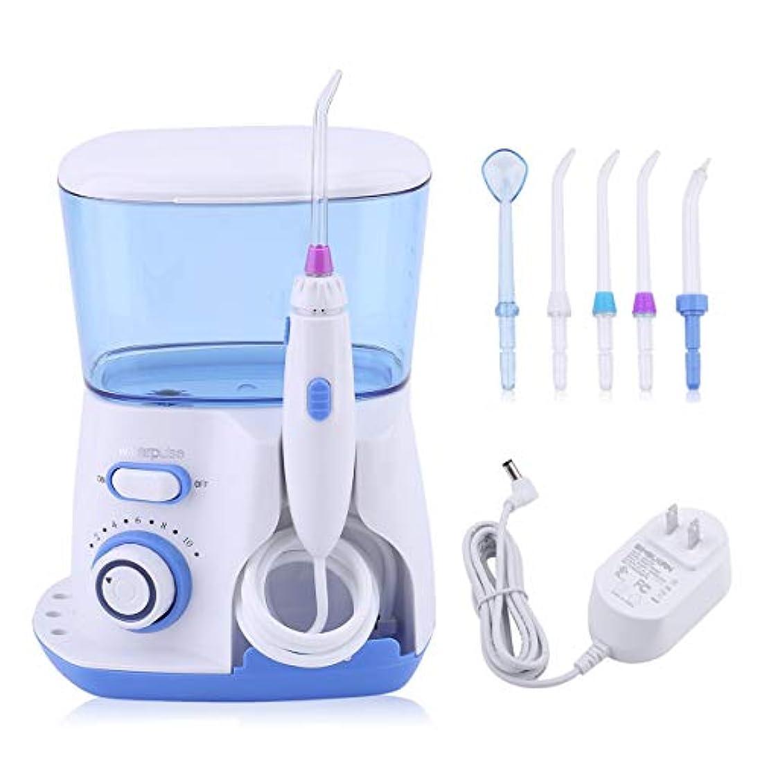 控えるアーティファクトブランド名Tivollyff 歯用ツール 歯清潔 Waterpulse健康歯科フロス器具優れたウォーターピックウォーターフロス歯クリーナーオーラルケア灌漑ツール米国のプラグイン 青と白