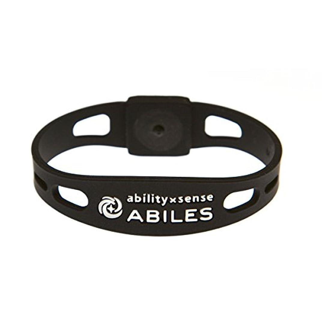 役立つ怠けた取り組む血行促進 ABILES PLUS(アビリスプラス)ブレスレット&アンクレット ブラック(Mサイズ?18cm)