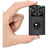 サンワダイレクト 防犯カメラ 小型 赤外線LED 夜間撮影 人感センサー microSD保存 音声録音 HD画質 最大12ヶ月待機可能 400-CAM062