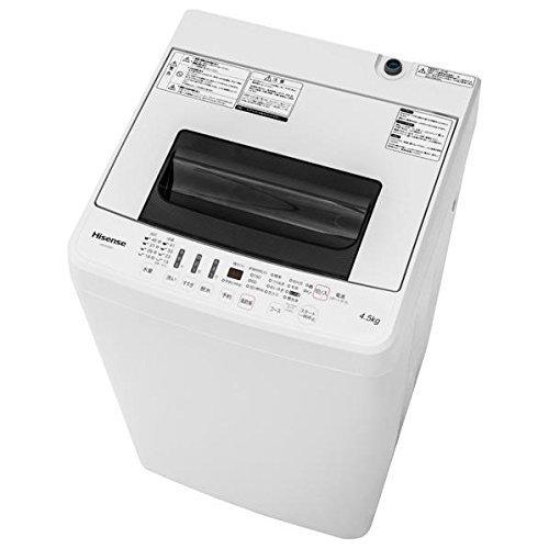 Hisenseハイセンスジャパン 4.5kg全自動洗濯機HW-E4501「風乾燥個別選択」スリム型50cm幅