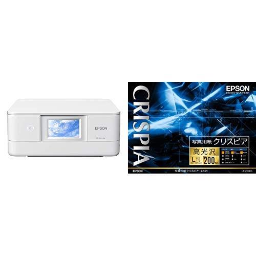 【高光沢L判写真用紙200枚付き】エプソン プリンター インクジェット複合機 カラリオ EP-882AW ホワイト(白) (2019年新モデル)