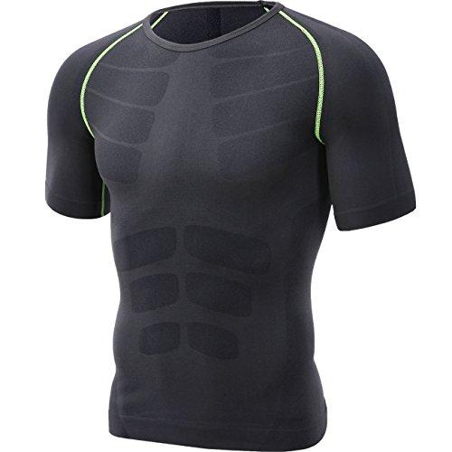 HONENNA 男性用機能性肌着 スポーツインナー 半袖 スポーツウェア アンダーシャツ インナー メンズ Tシャツ 姿勢矯正