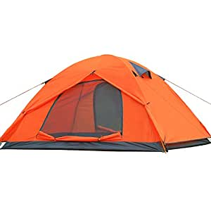 IREGRO テント 2人用 アウトドア 二重 超軽量 コンパクト UV ツーリング バイク 防水・防風・防災 緊急 収納バッグ付 1.92kg