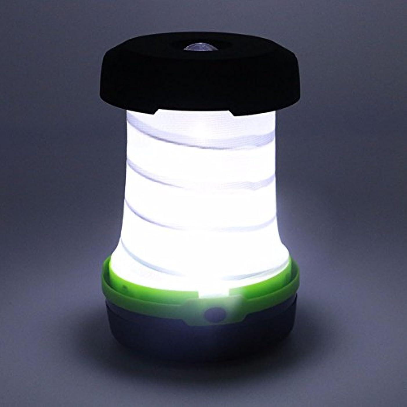 不誠実モディッシュ過激派アウトドア用ランプ 引き込み式 折り畳み式 ポータブル キャンプテントライト LED懐中電灯 ランプランタン LEDランタン LEDキャンピングライト グリーン