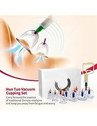 吸い玉カップ カッピング セラピー 真空ポンプ付き 吸玉治療 痛み緩和 血液の循環を促す 中国式療法 マッサージ効果 (24個セット)