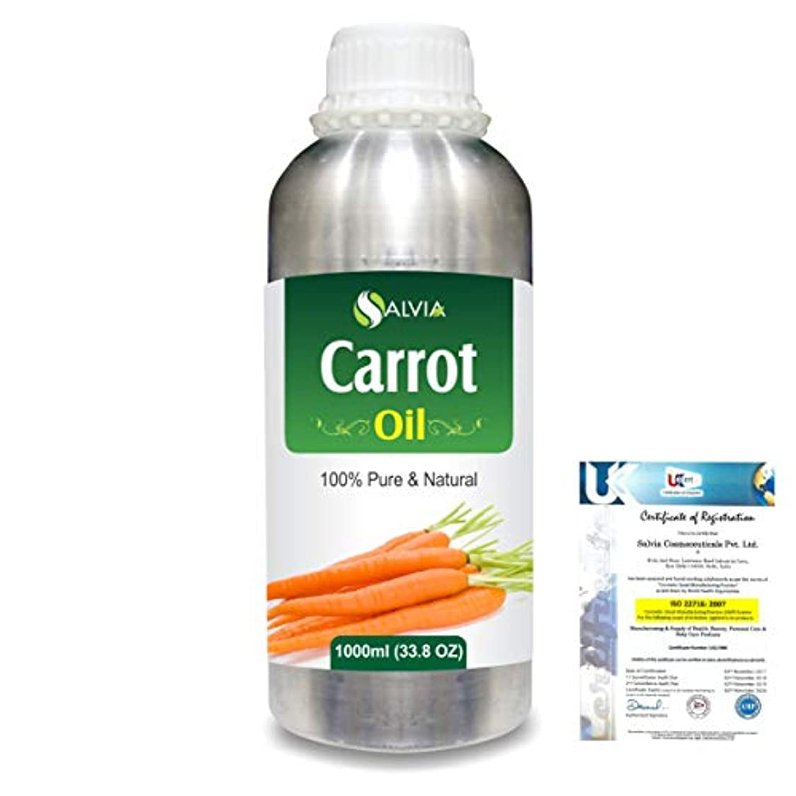 辛なヶ月目ベテランCarrot Oil (Ducus Carotta) 100% Natural Pure Essential Oil 1000ml/33.8fl.oz.