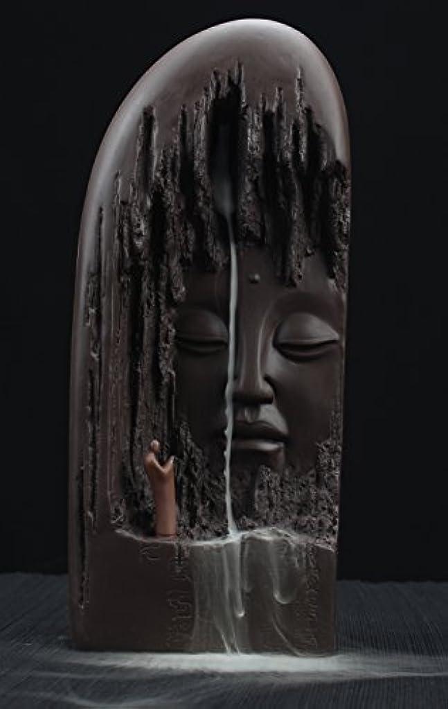 本気余韻余計なETIALセラミックBudda Statue Backflow Incense円錐BurnerホルダーWaterfall Artwareホームオーナメント