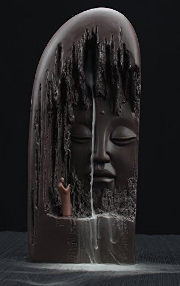 専門知識負荷の慈悲でETIALセラミックBudda Statue Backflow Incense円錐BurnerホルダーWaterfall Artwareホームオーナメント
