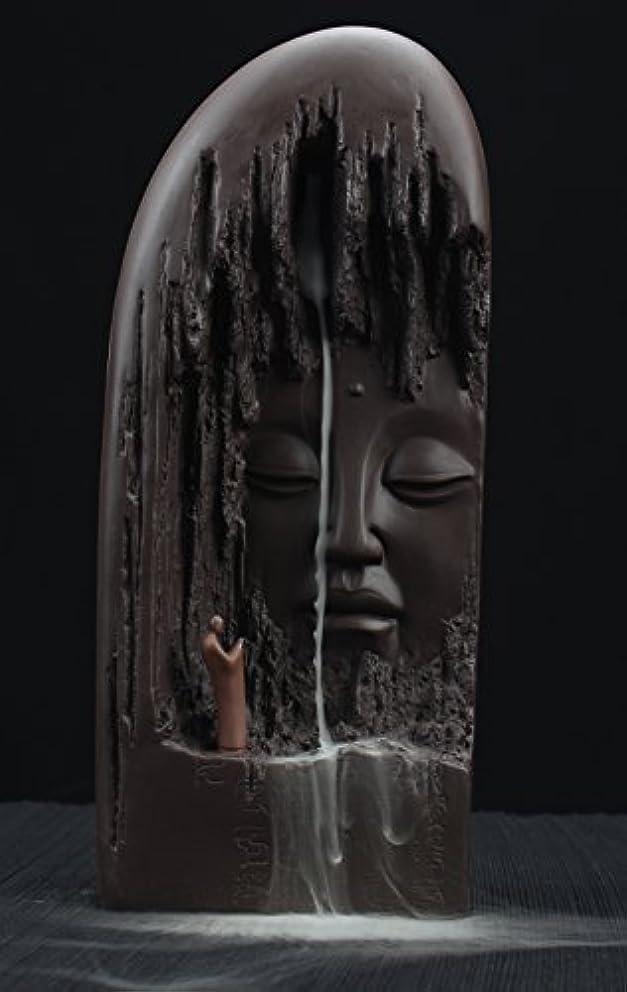 年齢防ぐエレベーターETIALセラミックBudda Statue Backflow Incense円錐BurnerホルダーWaterfall Artwareホームオーナメント