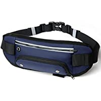 Womdee Waist Bag, Fanny Pack, Waist Pack, with Water Bottle Holder & Adjustable Strap for Men/Women, Outdoor, Sports, Jogging, Walking, Hiking, Cycling, Can Hold Card Phone