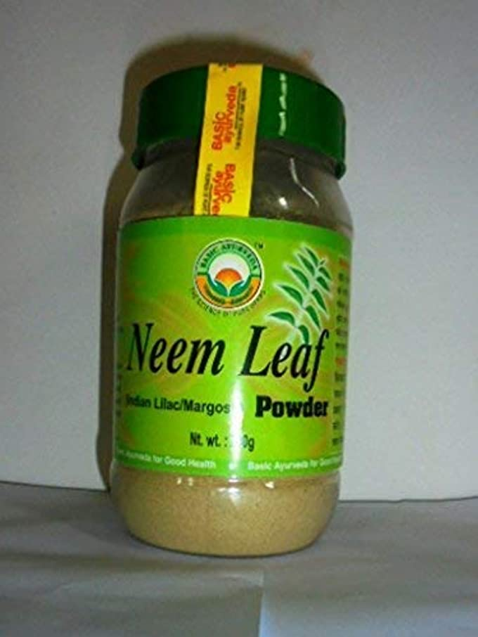規則性妊娠した交じるNexxa 200g Pure Natural Basic Ayurveda Neem Leaf Powder Indian Lilac