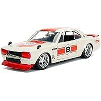 新しい1 : 24 Jada Toys表示JDM Tunersコレクション – レッド/クリーム1971 Nissan Skyline Gt - r # 8 DiecastモデルCar by Jada Toys ( without小売ボックス)