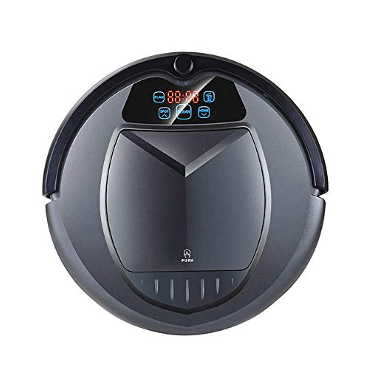 適度に独立したローストロボット掃除機 1つの掃除機水タンクのスケジュール仮想ブロッカー自己充電UV殺菌バッテリー容量2000mAhの中2 静音 長期間稼働 リモコン操作 パワフル (Color : Black, Size : One size)