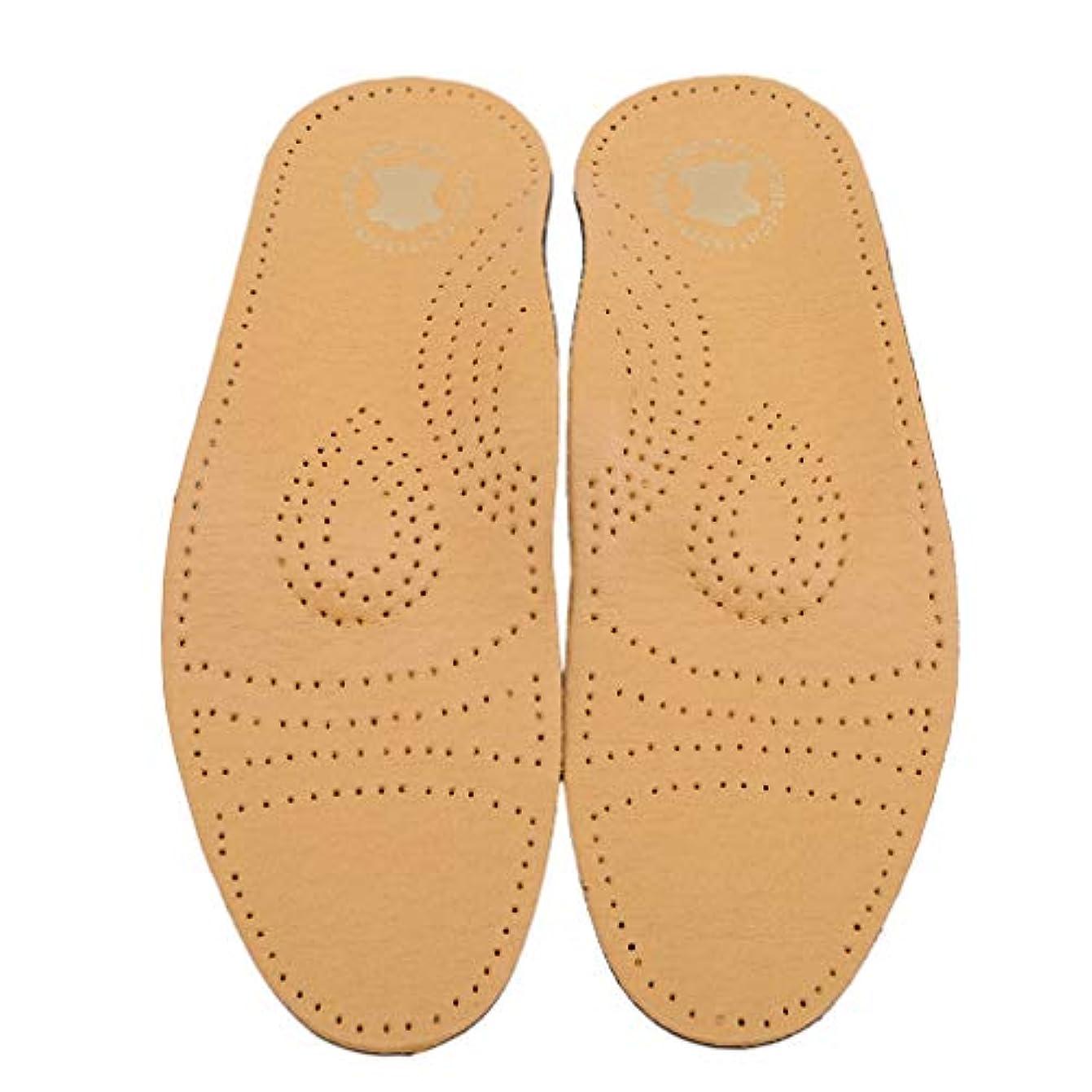 対抗モロニック定常Cngstar 活性炭模造レザーアーチフルパッド イミテーションレザーインソール 靴アクセサリー (サイズ1)