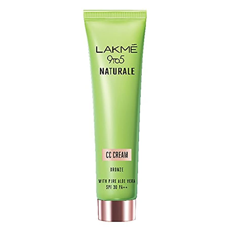 読書変換に向かってLakme 9 to 5 Naturale CC Cream, Bronze, 30g