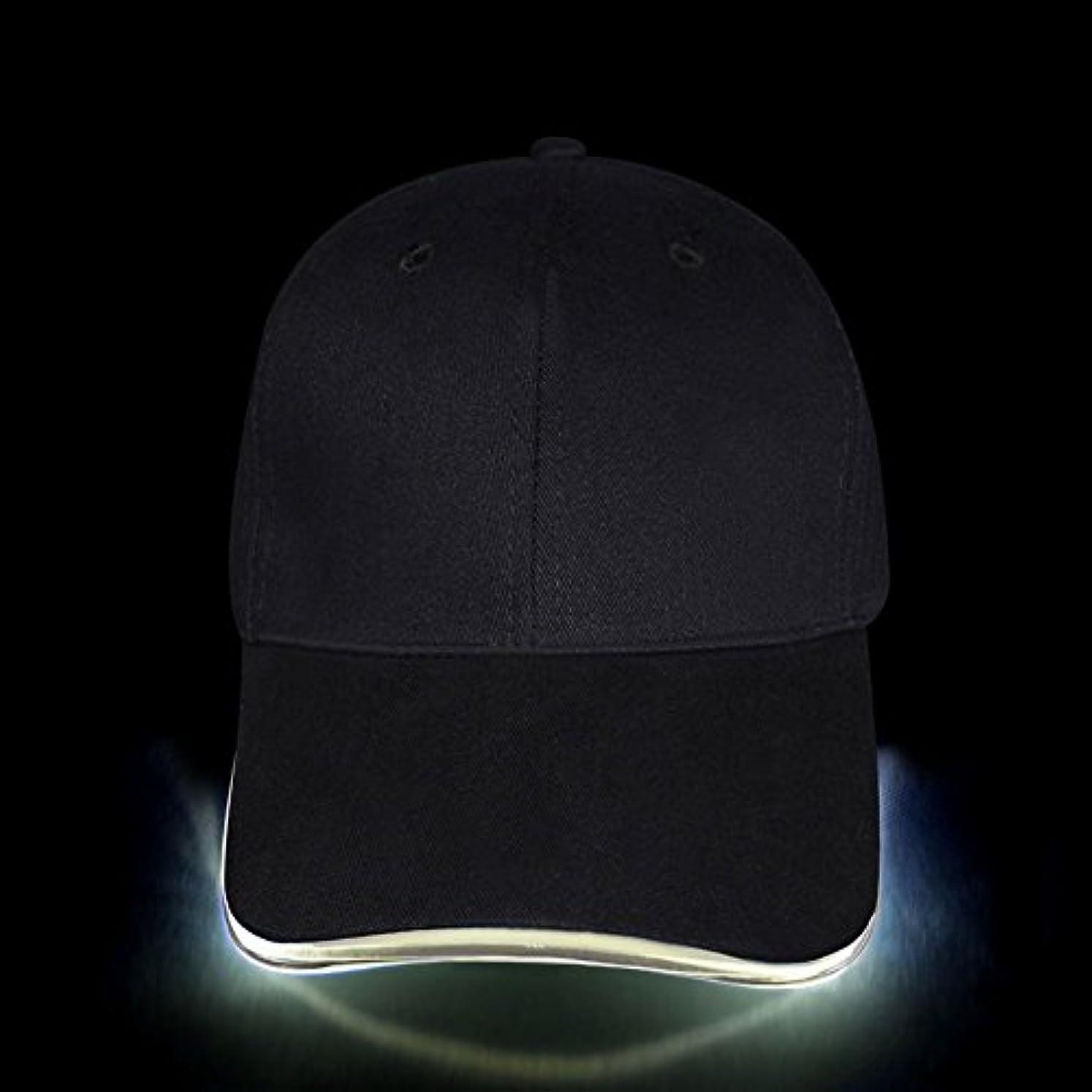 実験欠陥ベリーLED帽子、簡単に調整可能ライトUp BaseballキャップFlashing Brightレディースメンズスポーツ帽子ヒップホップのパーティー、ジョギング、キャンプ、クリスマス