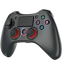 PS4コントローラー tecboss ワイヤレス Bluetooth 接続 Blitzl PS4 fpsコントローラー PS3/PS4 Pro/Slim PC対応 システムWindowsXP/7/8/8.1/10に対応 二重振動 6軸センサー搭載