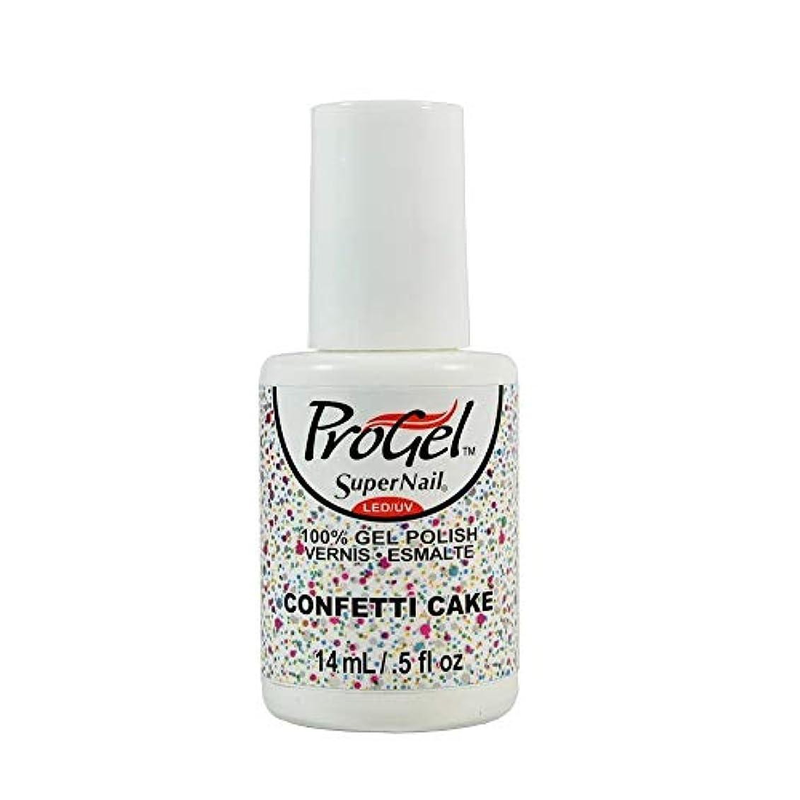 フルーツあえて休戦SuperNail ProGel Gel Polish - Confetti Cake - 0.5oz / 14ml