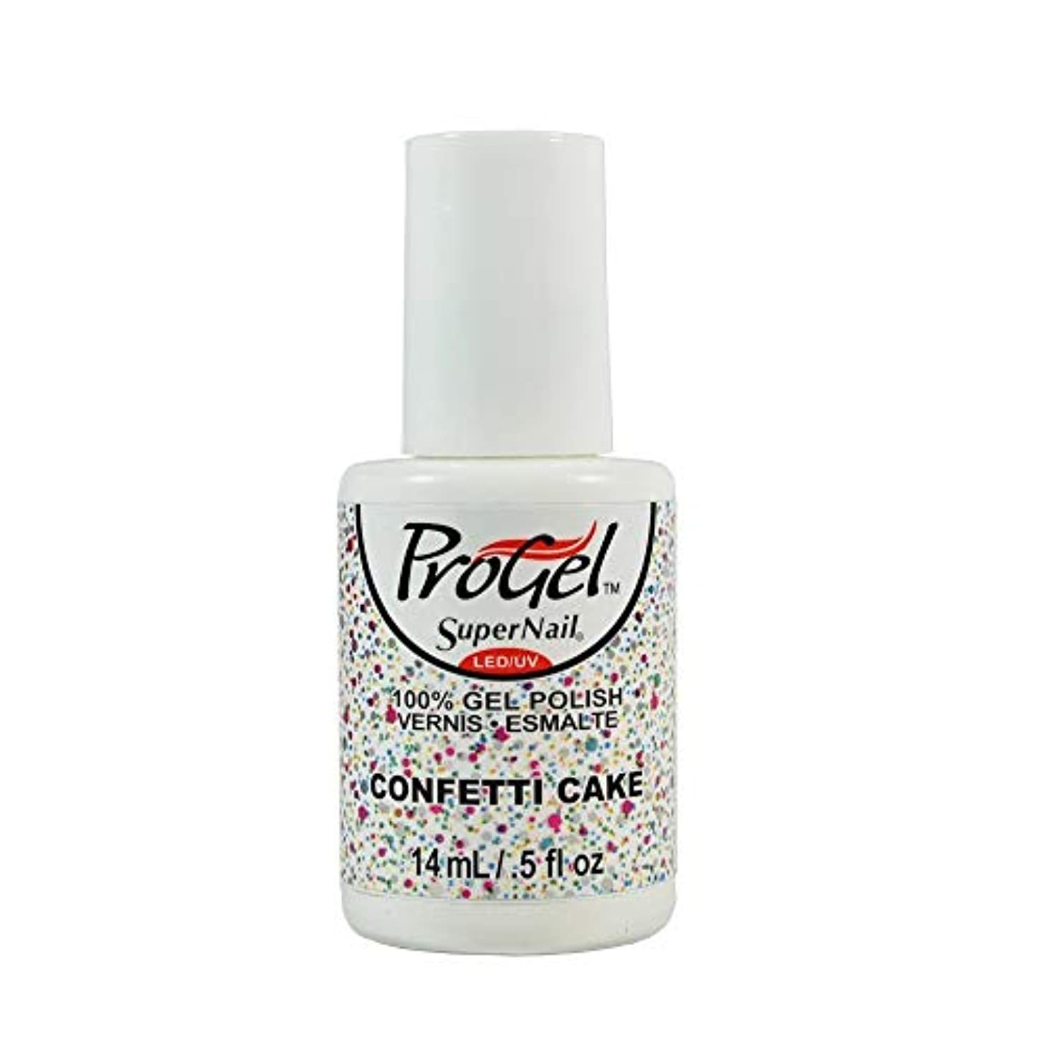 時期尚早統治可能高さSuperNail ProGel Gel Polish - Confetti Cake - 0.5oz / 14ml