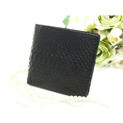 SANTA MARIA サンタマリア パイソン無双二つ折り財布 折財布 T3298-PY ブラック