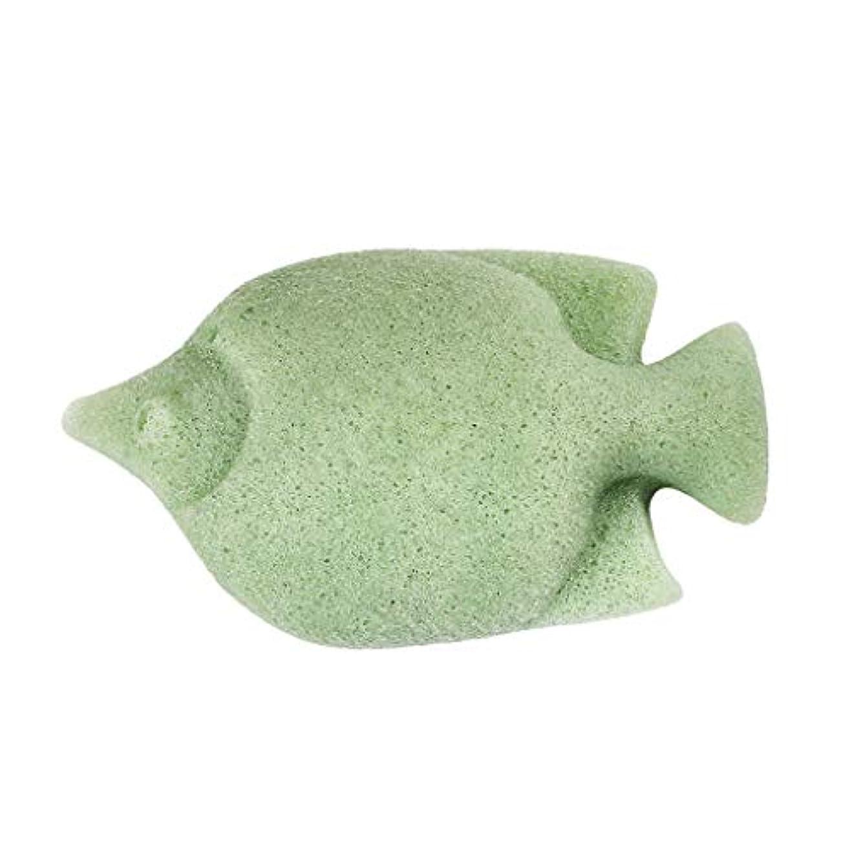 しなやかな目指すこだわりchiwanji コンニャククリーニングパフエクスフォリエイティングフェイシャルスポンジディープクリーン - 緑, 11.5x7cm