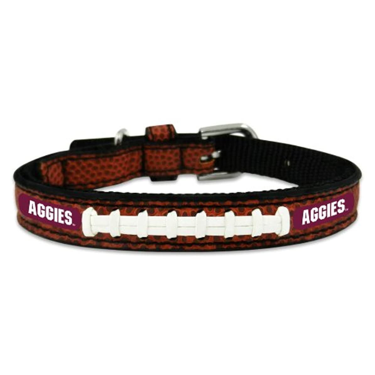 有名な俳句崩壊Texas A&M Aggies Classic Leather Toy Football Collar